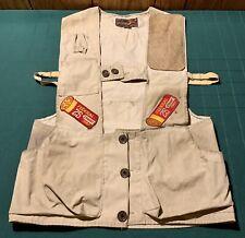 Vtg 10-X Mfg Co Khaki Sportsmen Vest Patches & Pockets Size S Remington 25 Trap