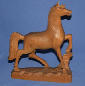 Vitage Wood Hand Carving Horse Figurine