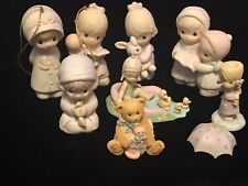 Precious Moments Lot of 7 1982 thru 1992 Pre-Owned J&D