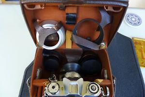 ZEISS IKON Contaflex super analoge Spiegelreflex-Kamera mit viel Zubehör