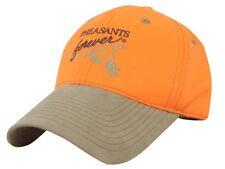 PHEASANTS FOREVER/ PF Blaze/Saftey Orange w/ Suede Visor Hunting Hat/Cap PF05A