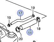 2x NEW Genuine Suzuki Swift 2005-11 Petrol Fuel Filler Breather RUBBER HOSES