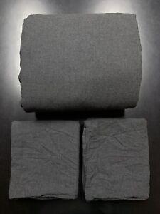 Restoration Hardware Heathered Cotton Cashmere King Duvet + Shams Charcoal Grey