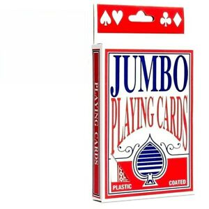PLAYING CARDS PREMIUM JUMBO BIG LARGE DECK CARD GAME PLASTIC COATED PLAYING CARD