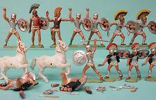 Big Job Lot Herald TROJAN WARRIORS Collection of Original 1950s Plastic Figures