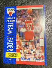 Michael Jordan 1991-1992 Fleer Team Leader Card #375