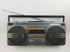 Philips D-8132 Stereo Cassette Recorder Player Boombox Radio Works Tape Doesn't