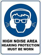 Mandatory High Noise Area 5 Sticker Sign Decal Set Public Safety WH&S OHS WHS