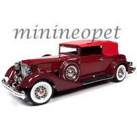 AUTOWORLD AW271 1934 PACKARD V12 VICTORIA 1/18 DIECAST MODEL CAR BURGUNDY / RED