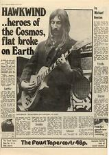 Hawkwind heroes of the cosmos, flat broke on earth MM3 Interview 1973
