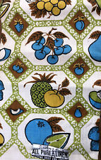 New listing Vintage Linen Fruit Kitchen Towel 1960's New Nos Kitschy