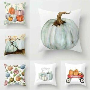 Pumkin Pillow Case Fall Decor Sofa Throw Letter Cushion Cover Home Decoration