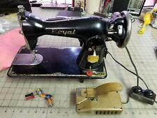 Royal Sewing Machine 1953 Series - Japan - Edison Model E Motor - Running