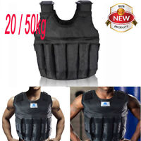44/110lbs Weighted Vest Jacket Adjustable Body Workout Exercise Boxing Training