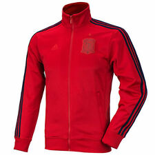 Adidas Men's Spain 3 Stripe Anthem Full Zip Track Jacket  Save 40%!! Large