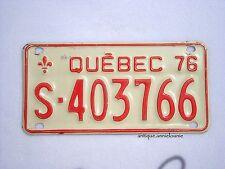 1976 QUEBEC Snowmobile SKI-DOO Vintage License Plate # S-403766