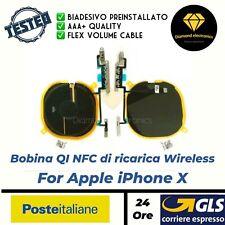 Bobina NFC Ricarica Wireless Charge QI + Volume Flex Cable Flat Apple iPhone X