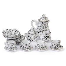 Puppenhaus Miniatur Speise Geschirr Porzellan Tee Set 15 Stk. R4T7