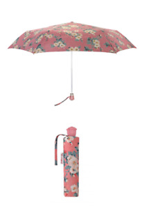 Cath Kidston Mayfield Blossom Rose Handle Umbrella UV Dusty Pink Colour