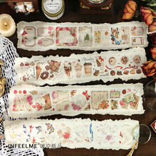 Vintage Butterfly Message Box Washi Tape Diy Junk Journal Scrapbooking Stickers