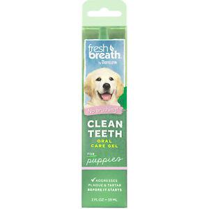 TropiClean Fresh Breath Puppy Clean Teeth Gel Oral Care for Dogs 2 oz
