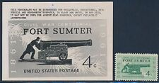 "#1178E B.E.P. PHOTO ESSAY ""4¢ FORT SUMTER ISSUE"" (EX-JOHL) BT3177"