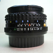 SMC Pentax-A 1:1.7  50mm Lens w/Caps. Made in Japan. for 35mm Film Camera.