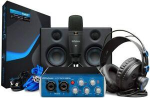 PreSonus AudioBox Studio Ultimate Bundle Complete Recording Kit l BRAND NEW l