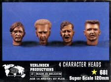 Verlinden 120mm 1:16 4 Character Heads WWII Resin Figure Accessory #681