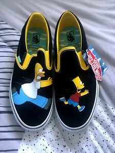 Vans x Simpsons Classic Slip On Homer/ Bart Mens Size 11 Limited Edition New