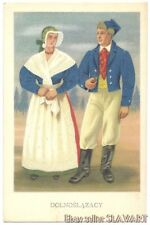 POSTCARD Polish Folk Costumes Slask Poland ethnic dress fashion Jerzy Karolak
