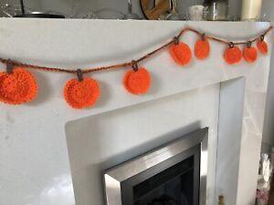 Handmade Pumpkin Halloween Bunting