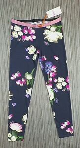 BNWT Ted Baker floral LEGGINGS age 13-14 navy blue NEW
