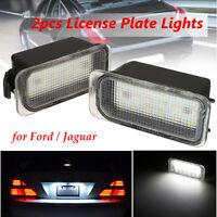 2pcs White SMD 18 LED License Number Plate Lights Lamp For Jaguar XJ XF 6000K