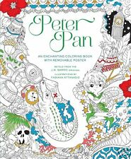 Peter Pan Fairytale Fantasy Adult Colouring Book Creative Art Therapy Disney