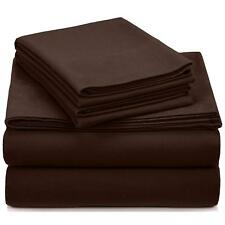 Deluxe Hotel 300 Thread Count 100% Cotton Sateen TWIN Sheet Set (Coffee)