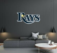 Tampa Bay Rays Logo Wall Decal - Baseball Logo for House Decoration - Reusable.