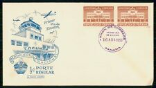Mayfairstamps PANAMA FDC 1955 COVER 1/2c TOCUMEN AIRPORT PAIR wwi 459