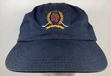 Vintage Tommy Hilfiger Golf Sail Cap Golfing Blue Dad Hat Plaid Boat Ocean Water