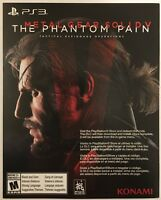 Metal Gear Solid V (Five) Phantom Pain Day One DLC Add-On for Playstation 3 PS3