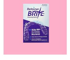 96 Tablets Retainer Brite Bright Oral Care Teeth Cleaner Denture Box