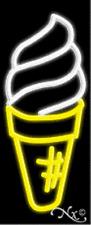 NEW ICE CREAM CONE LOGO 32x13 VERTICAL REAL NEON SIGN w/CUSTOM OPTIONS 10317