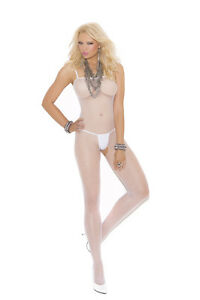 Seamless Fishnet Bodystocking w/Open Crotch Plus & One Size Adult Woman Costume