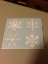 Snowflakes Vinyl Die Cut Decals,window,truck,car,funny,laptop,christmas,iPad