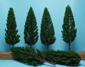 "6 Multi Scale Dark Green Pine Trees 5 1/8"" Tall 6 Pcs all 1 Size"