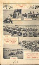 CLERMONT-FERRAND MICHELIN PNEU TYRE ITALIAN ARMY TRIPOLI LIBIA PUBLICITE 1913