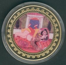 "1 Coin(gilded)/Medal 40mm, 27g, Kamasutra ""Kokonspinnen"" Proof Like+Zertifikat"