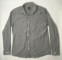 Armani Exchange Mens XL Button Front Long Sleeve Gray Shirt U