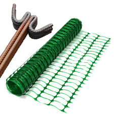 1 x 25m Green Plastic Safety Barrier Fencing Mesh  Netting Net and 10 Metal Pins