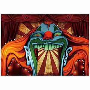 Halloween Backdrop Horror Circus Clown Theme Halloween, Photography 7 x 5 FT